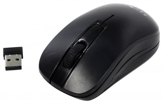 лучшая цена Мышь беспроводная Oklick 445MW чёрный USB + радиоканал