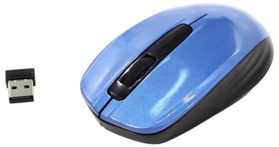 лучшая цена Мышь беспроводная Oklick 475MW чёрный синий USB