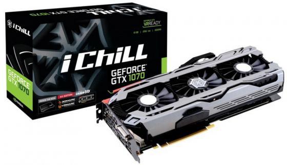 Видеокарта 8192Mb  Inno3D GeForce GTX 1070  iChill X4  PCI-E 256bit GDDR5X DVI HDMI DP HDCP C107V4-1SDN-P5DNX Retail переходник aopen hdmi dvi d позолоченные контакты aca311