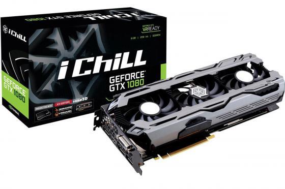 Видеокарта 8192Mb  Inno3D GeForce GTX 1080 iChill X3  PCI-E 256bit GDDR5X DVI HDMI DP HDCP C108V3-2SDN-P6DNX Retail переходник aopen hdmi dvi d позолоченные контакты aca311