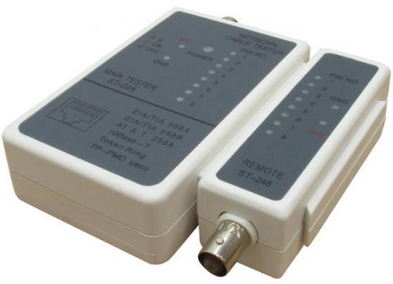 Тестер Telecom ST-248 для RJ-11, RJ-12, RJ-45 тестер telecom hl 004 для rj 45