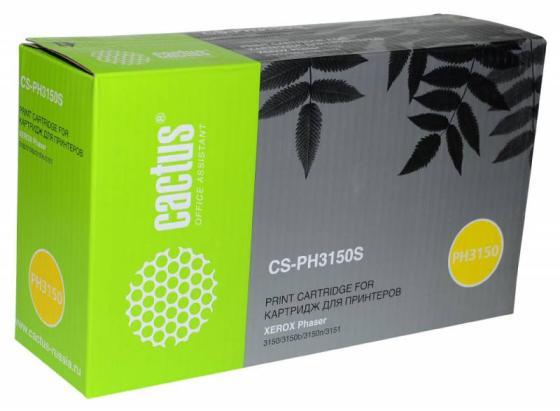 цена на Картридж Cactus CS-PH3150S 109R00746 для Xerox Phaser 3150/3150b/3150n/3151 черный 3500стр