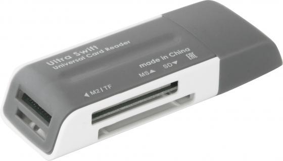 Картридер внешний Defender Ultra Swift USB 2.0 4 слота 83260 картридер defender optimus usb 2 0 83501