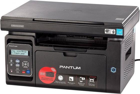 МФУ Pantum M6500W ч/б A4 22ppm 1200x1200dpi USB черный pantum m6550nw black мфу лазерное