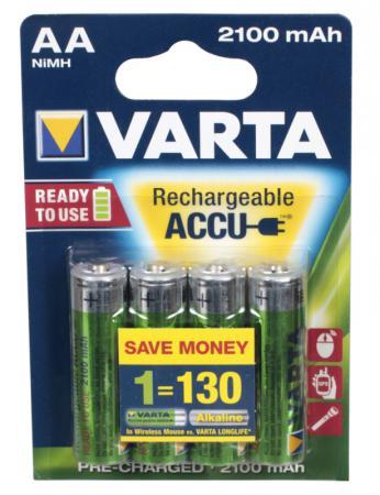 Аккумуляторы 2100 mAh Varta R2U AA 4 шт