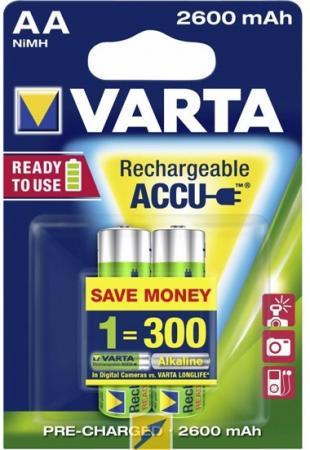 Аккумуляторы 2600 mAh Varta R2U AA 2 шт аккумуляторы varta r2u aaa