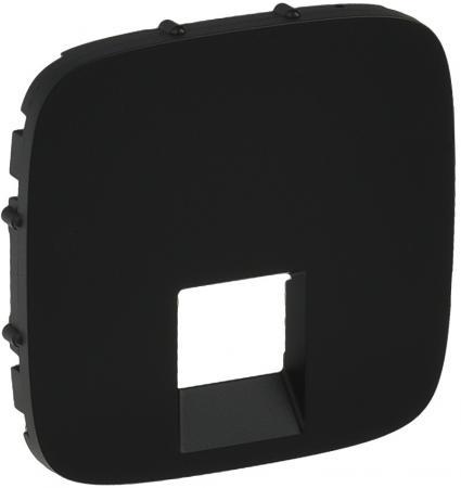 Лицевая панель Legrand Valena Allure для одиночных телефонных/информационных розеток антрацит 755418
