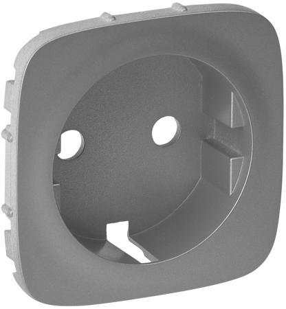 Лицевая панель Legrand Valena Allure для розетки 2К+З алюминий 755207 цена