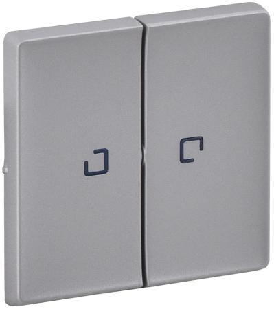 Лицевая панель Legrand Valena Life для выключателя 2-клавишного с подсветкой алюминий 755222 лицевая панель legrand valena life выключателя двухклавишного с подсветкой алюминий 755222