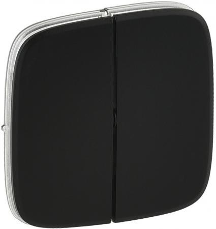 Лицевая панель Legrand Valena Allure для выключателя 2-клавишного антрацит 755028