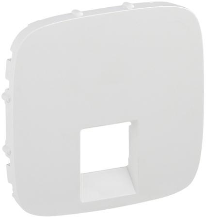 Лицевая панель Legrand Valena Allure для одиночных телефонных/информационных розеток белый 755415