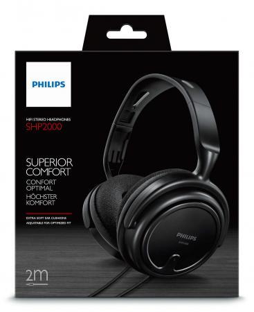 Наушники Philips SHP2000/10 черный наушники philips she8100bk 00