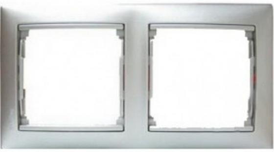 Рамка Legrand Valena 2 поста алюминий матовый 770332  рамка legrand valena одноместная алюминий 770151