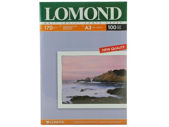Фотобумага Lomond A3 170г/кв.м матовая двухсторонняя 100л 0102012 фотобумага lomond а4 100г кв м двухсторонняя матовая 100л 0102002