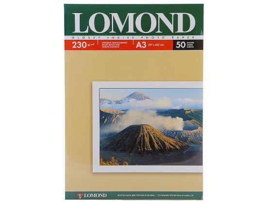 Фото - Фотобумага Lomond A3 230г/кв.м глянцевая для струйной печати 50л 0102025 фотобумага lomond a4 230г кв м односторонняя матовая 50л 0102016
