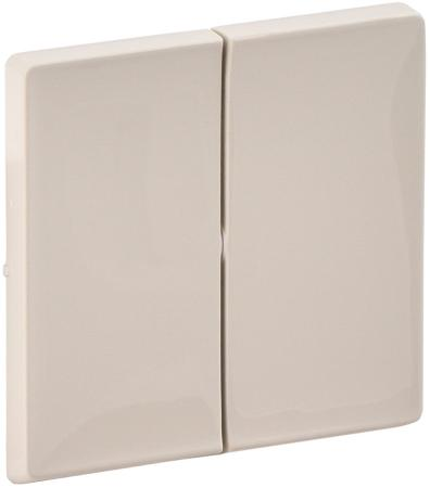 Лицевая панель Legrand Valena Life для выключателя 2-клавишного слоновая кость 755021 лицевая панель legrand valena life выключателя двухклавишного с подсветкой алюминий 755222