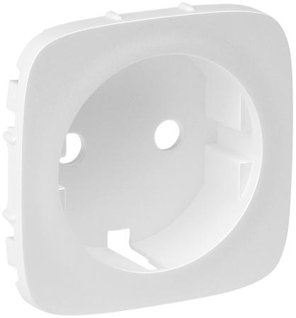 Лицевая панель Legrand Valena Allure для розетки 2К+З белый 755205 розетки и выключатели legrand valena купить дешево