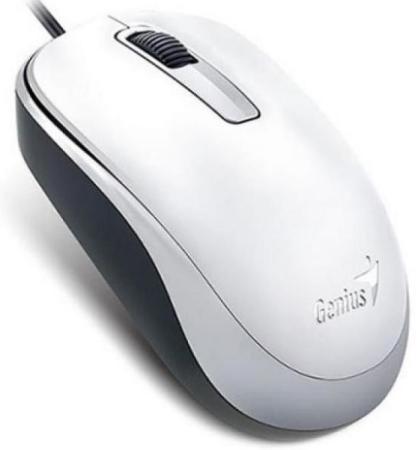 Мышь проводная Genius DX-125 белый USB цена и фото