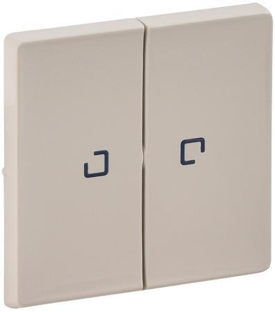 Лицевая панель Legrand Valena Life для выключателя 2-клавишного с подсветкой слоновая кость 755221