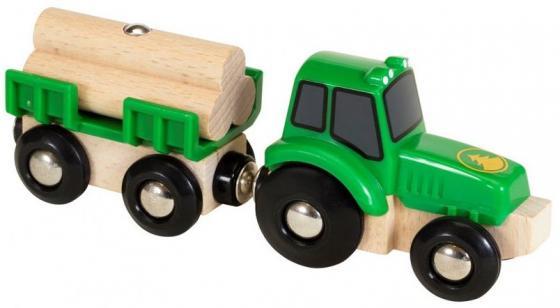 Трактор Brio Трактор с бревнами с 3-х лет 2350337990 погрузчик с вращением с магнитом блист brio