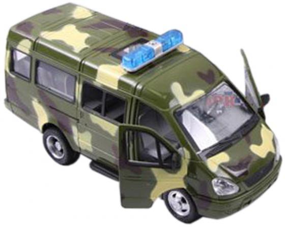 """Интерактивная игрушка Play Smart """"Автопарк""""- Газель 3221 от 3 лет хаки свет, звук, Р40531 машина инерционная joy toy газель 3221 военная р40531"""