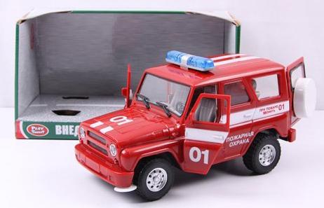Пожарная машина Play Smart инерц.свет,звук,откр.дверь УАЗ Hunter 23 см Р40512 автомат play smart снайпер р41399