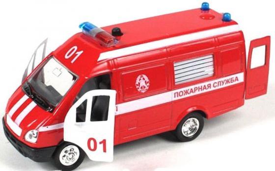 """Машина Joy Toy """"Автопарк"""" - Газель 3221 пожарная 23 см красный 1:27"""