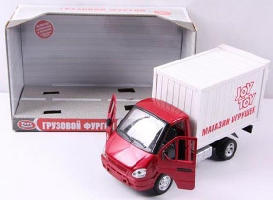 Интерактивная игрушка Play Smart Газель фургон Игрушки от 3 лет бело-красный Р40519 игрушка play smart газель 3221 пожарная р40526