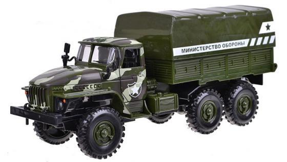 Грузовик Play Smart Автопарк. Министерство обороны разноцветный 6721 машины play smart автопарк инерционная машина со светом и звуком министерство обороны