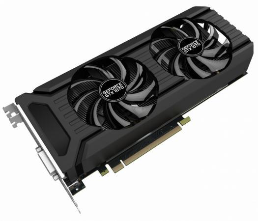 Видеокарта Palit GeForce GTX 1070 PA-GTX1070 Dual 8G PCI-E 8192Mb 256 Bit Retail цена и фото