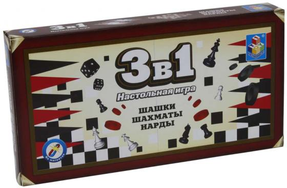 все цены на Настольная игра набор игр 1toy Шашки, шахматы, нарды