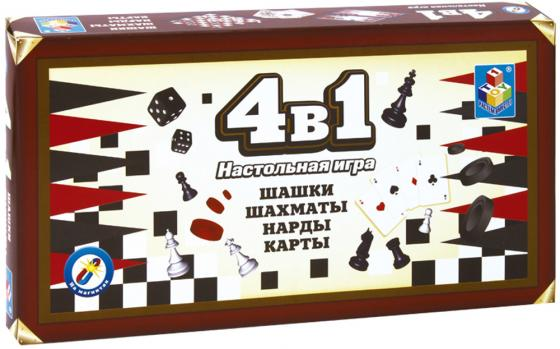 все цены на Настольная игра набор игр 1toy Шашки, шахматы, нарды, карты на магнитах Т52451