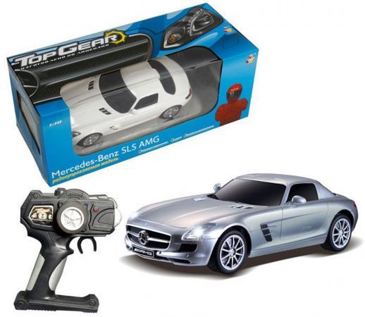 Машинка на радиоуправлении Top Gear Top Gear - Mercedes Benz SLS цвет в ассортименте от 4 лет пластик 1:18, свет, без заряд. устройства, Т56688 1toy mercedes benz m350 1 24 top gear с зарядным устройством