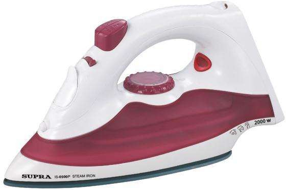 Утюг Supra IS-0500P 1700Вт бело-красный утюг supra is 2605 2600вт фиолетовый