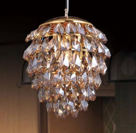 все цены на Подвесной светильник Crystal Lux Charme SP3+3 LED Gold/Amber онлайн