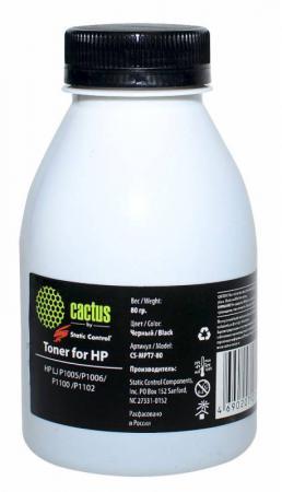 Тонер Cactus CS-MPT7-80 для HP LJ P1005/P1006/P1100/P1102 черный тонер cactus cs thp4 10kg для hp lj p1005 p1006 p1100 p1102 черный 10000грамм пакет