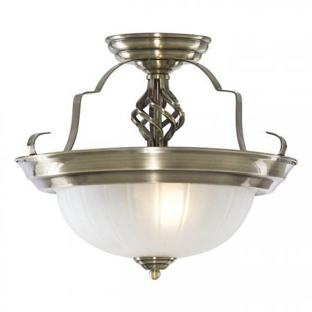 Потолочный светильник Arte Lamp Lobby A7835PL-2AB american pastoral creative stained glass corridor lobby aisle decorative small ceiling lamp bar decoration lamp 110 240v e27