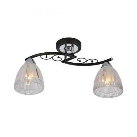 Потолочный светильник IDLamp Nield 232/2PF-Blackchrome светильник потолочный idlamp 217 2pf blackchrome
