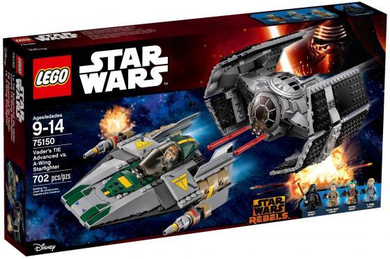 Конструктор Lego Star Wars Усовершенствованный истребитель СИД Дарта Вейдера против Звёздного Истребителя A-Wing 702 элемента 75150 lego конструктор сид дарта вейдера против a wing star wars 75150