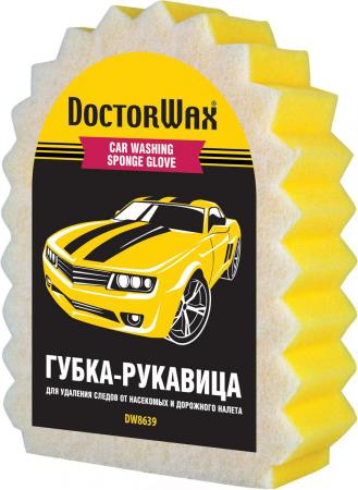 Губка-рукавица Doctor Wax DW 8639 реставратор покрышек doctor wax dw 5343