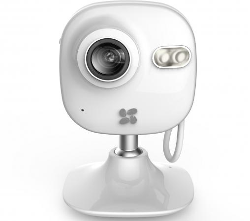 цены на Камера IP EZVIZ C2mini CMOS 1/3'' 1280 x 960 H.264 RJ-45 LAN Wi-Fi белый CS-C2mini-31WFR  в интернет-магазинах