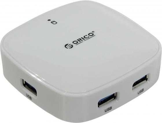 Концентратор USB 3.0 Orico H4818-U3-WH 4 х USB 3.0 белый orico hpc 2a4u wh 4 port usb charger with two 3 pin power socket white us plug