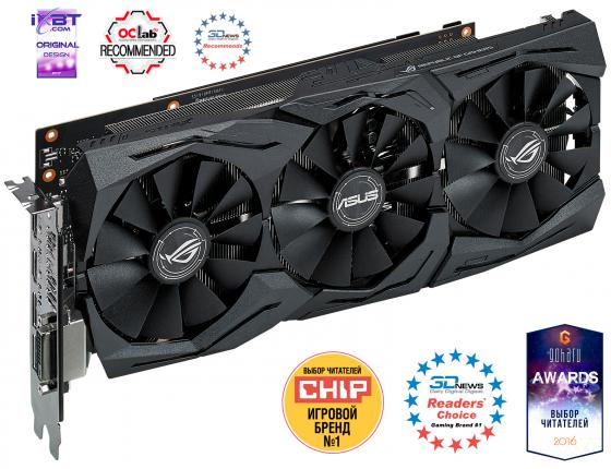 Видеокарта 6144Mb ASUS GeForce GTX1060 STRIX GAMING PCI-E 192bit GDDR5 DVI HDMI DP STRIX-GTX1060-O6G-GAMING Retail видеокарта asus 4096mb rx 560 strix rx560 o4g evo gaming dvi dp hdmi ret