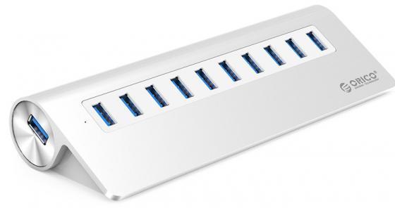 Концентратор USB 3.0 Orico M3H10-SV 10 x USB 3.0 серебристый кабели orico кабель microusb orico adc 10