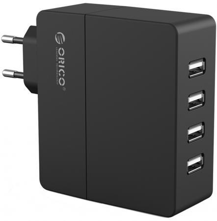 все цены на Сетевое зарядное устройство Orico DCA-4U-BK 1/2.4 А 4 x USB черный онлайн