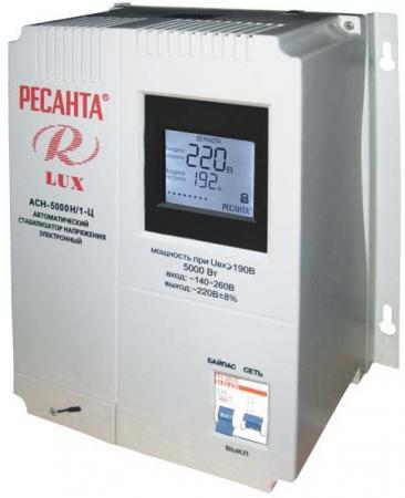 Стабилизатор напряжения Ресанта ACH-5000Н/1-Ц 63/6/16 стабилизатор напряжения ресанта ach 10000 1 ц 1 розетка серый