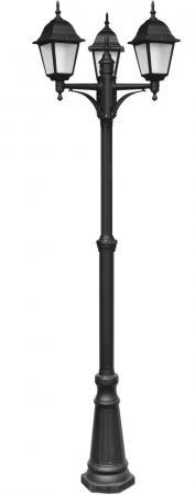 Садово-парковый светильник Arte Lamp Bremen A1017PA-3BK накладной светильник arte lamp falcon a5633pl 3bk