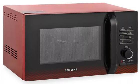 Микроволновая печь Samsung MG23H3115PR/BW 800 Вт чёрный красный микроволновая печь с грилем samsung mg23k3513as bw