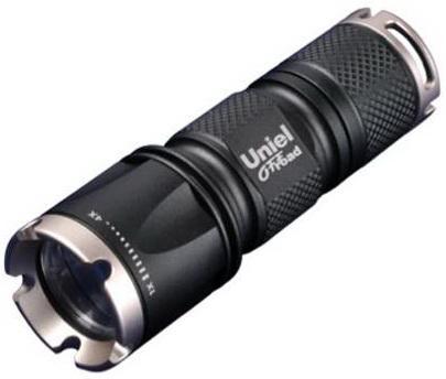 Ручной светодиодный фонарь Uniel (05722) от батареек 185 лм P-ML071-BB Black фонарь ручной uniel off road 05723