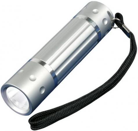 Ручной светодиодный фонарь Uniel (05940) от батареек 60 лм S-LD026-C Silver фонарь ручной uniel off road 05723